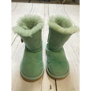 UGG Mini Bailey Button Mint green Boots Sheepskin